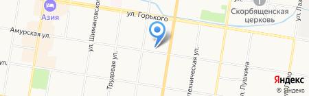Бочка на карте Благовещенска