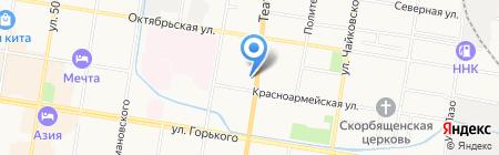 Леон на карте Благовещенска