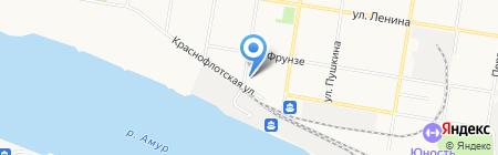 Аварийный комиссар АНО на карте Благовещенска