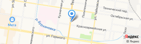 Киоск по продаже печатной продукции на карте Благовещенска