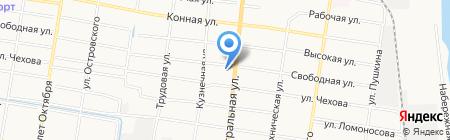 Баня №6 на карте Благовещенска