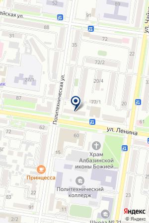 Административный участок №9 на карте Благовещенска