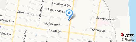 Униторг-Амур на карте Благовещенска