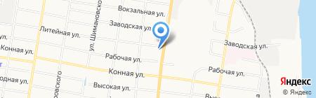 Траклайнер ДВ на карте Благовещенска