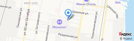Автощит на карте Благовещенска