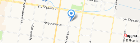 Фломастер на карте Благовещенска