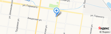 Ирис на карте Благовещенска