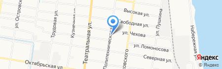 Почтовое отделение №5 на карте Благовещенска
