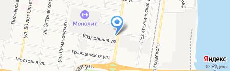 Административный участок №54 на карте Благовещенска