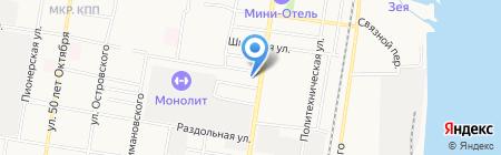 Рыболов-спортсмен на карте Благовещенска