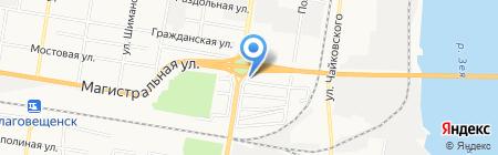 РОССАН-АМУР на карте Благовещенска