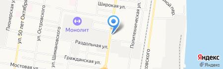 АЗС Эпсилон на карте Благовещенска