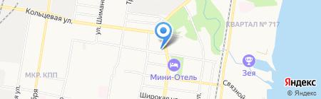 Оджах на карте Благовещенска