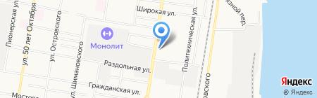 Пожарная часть №12 на карте Благовещенска