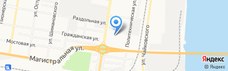 Центральные электрические сети на карте Благовещенска
