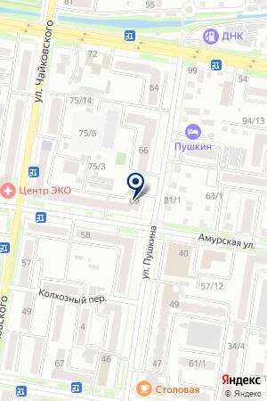АКБ ДАЛЬКОМБАНК на карте Благовещенска