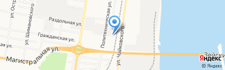 Амуравтостройцентр на карте Благовещенска