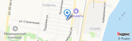 Почтовое отделение №20 на карте Благовещенска