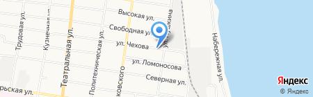 Экомассив на карте Благовещенска
