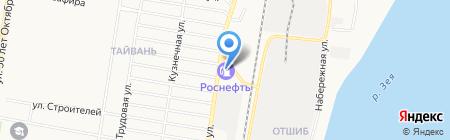 АЗС Роснефть на карте Благовещенска