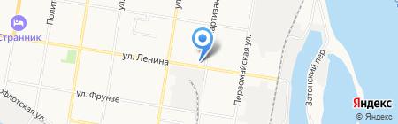 Тяпница на карте Благовещенска
