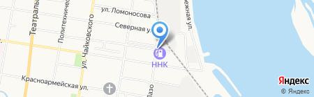 Шиномонтажная мастерская на ул. Лазо на карте Благовещенска