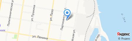 КВЭСТРА на карте Благовещенска