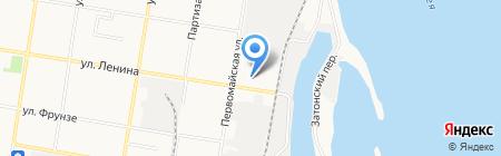 Авторемонт на ул. Ленина на карте Благовещенска