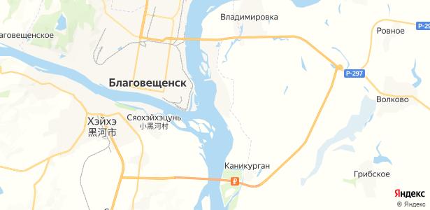 Зазейский на карте
