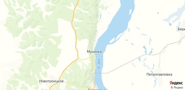 Мухинка на карте