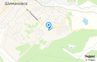 Местоположение на карте пункта техосмотра по адресу Амурская обл, г Шимановск, ул Плеханова, д 1