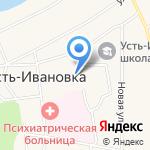 Усть-Ивановский психоневрологический интернат на карте Благовещенска