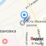 Усть-Ивановская средняя общеобразовательная школа на карте Благовещенска