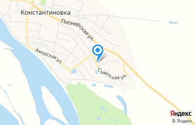 Местоположение на карте пункта техосмотра по адресу Амурская обл, с Константиновка, ул Советская, д 88