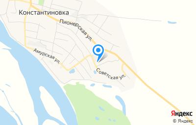 Местоположение на карте пункта техосмотра по адресу Амурская обл, с Константиновка, ул Советская, зд 88