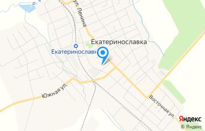 Местоположение на карте пункта техосмотра по адресу Амурская обл, с Екатеринославка, ул Кооперативная, д 5А