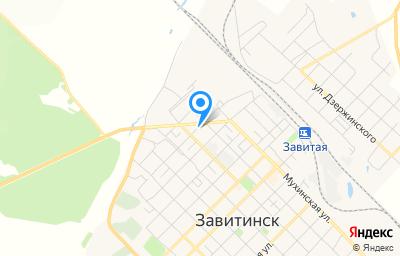Местоположение на карте пункта техосмотра по адресу Амурская обл, г Завитинск, ул Пролетарская, стр 17