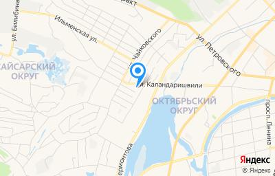 Местоположение на карте пункта техосмотра по адресу г Якутск, ул Каландаришвили, д 35