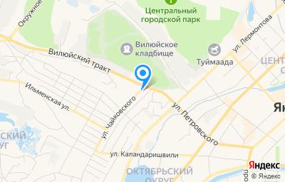Местоположение на карте пункта техосмотра по адресу г Якутск, ул Чайковского, д 13