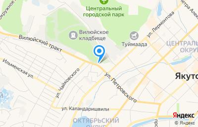 Местоположение на карте пункта техосмотра по адресу г Якутск, ул Петровского, д 46
