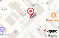 Схема проезда до компании Препринт в Якутске