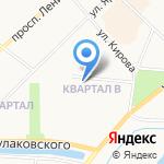 Синет на карте Якутска