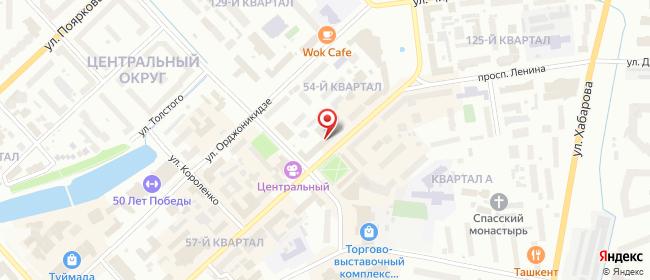 Карта расположения пункта доставки Ростелеком в городе Якутск