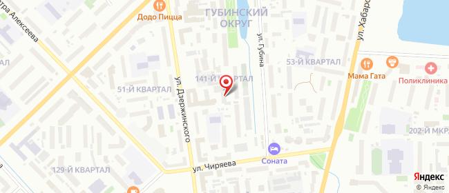Карта расположения пункта доставки Якутск Дзержинского в городе Якутск
