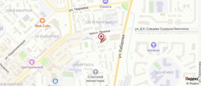 Карта расположения пункта доставки Пункт выдачи в городе Якутск