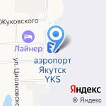 S7 Airlines на карте Якутска