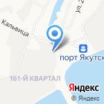 Медник на карте Якутска