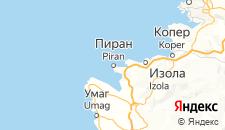Отели города Пиран на карте