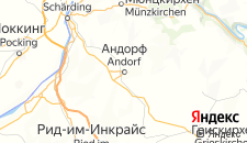 Отели города Андорф на карте