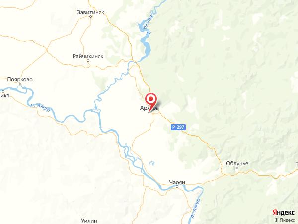 посёлок городского типа Архара на карте